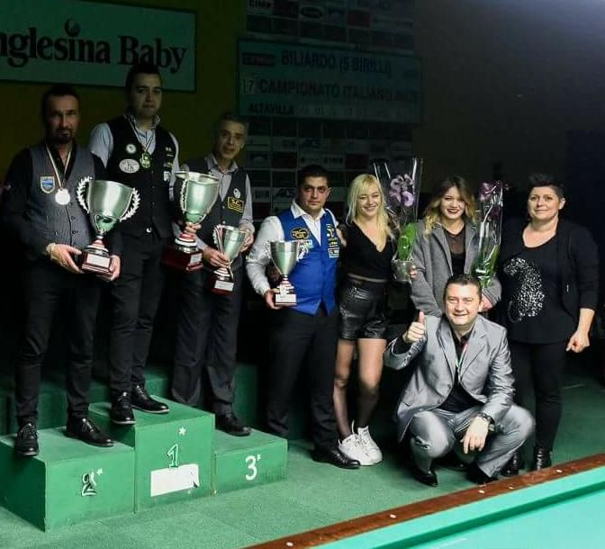Il podio del campionato italiano, da sx Modonesi, Gualemi, Belluta e Quarta