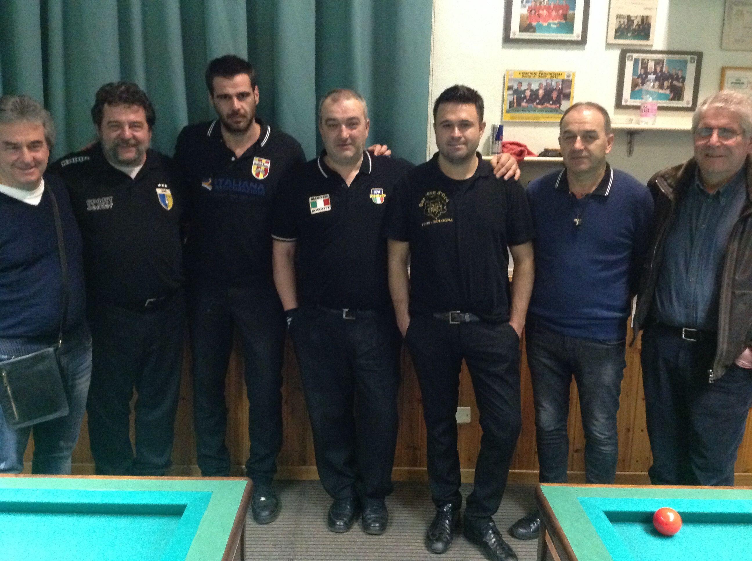 Lauro Caffarri, Marco Merloni, Daniele Ricci, Massimo Cicali, Fabio Corradini, Alberto Pavarotti e Augusto Landi
