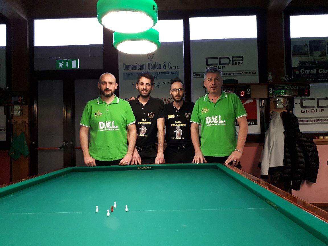 1° quarto di finale: (Beneventi Luca, Ieva Gabriele, Brandi Vittorio, Gualandri Claudio)