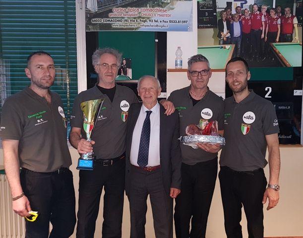 Perugini, Corbetta, Naldi, Molduzzi e Galli Campioni italiani squadre 2018