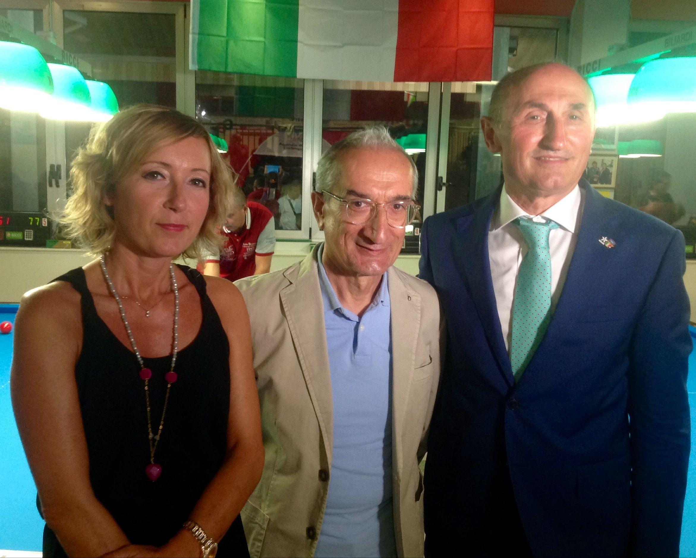 Stefania Ceccarelli , Ivan Balelli (Coni fc) e Loris De Cesari