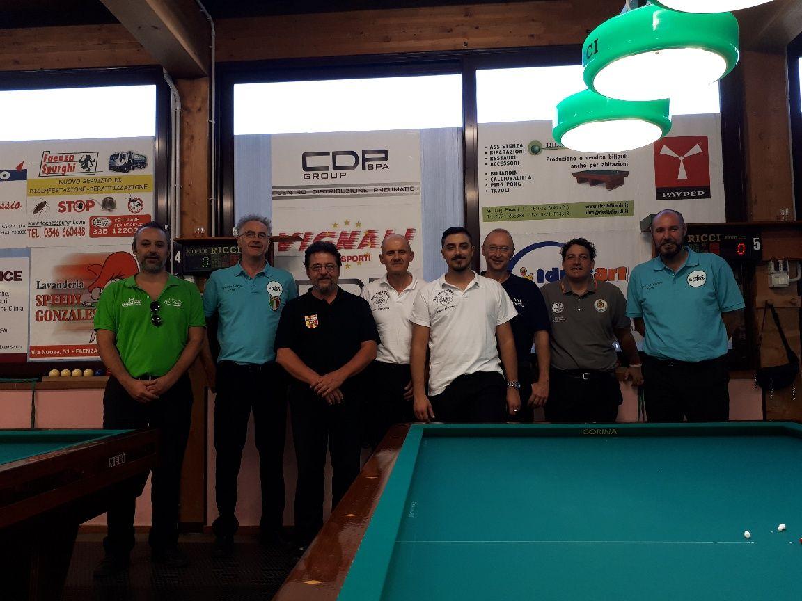 Foto di Gruppo degli otto finalisti
