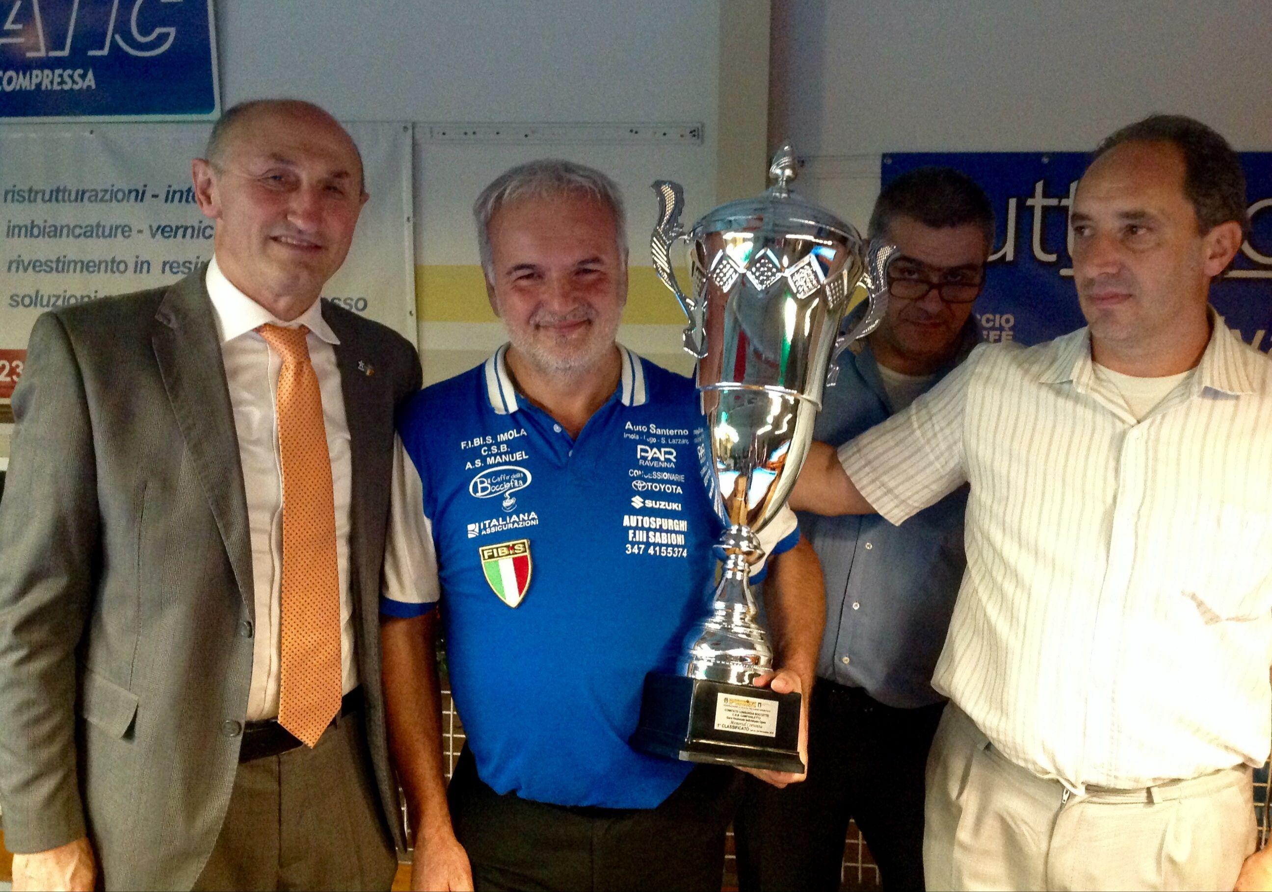 Il vincitore Massimo Loreti