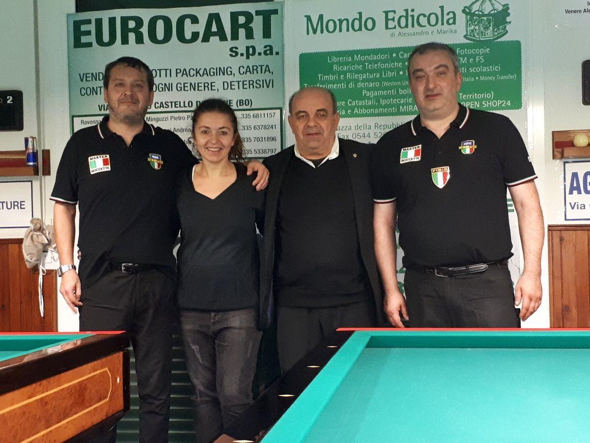 Nadery Alessandro (1° class.) - Barbara (BBZO) - Amorati Oriano (Pres. Comitato di Ravenna - Cicali Massimo (2° class.)