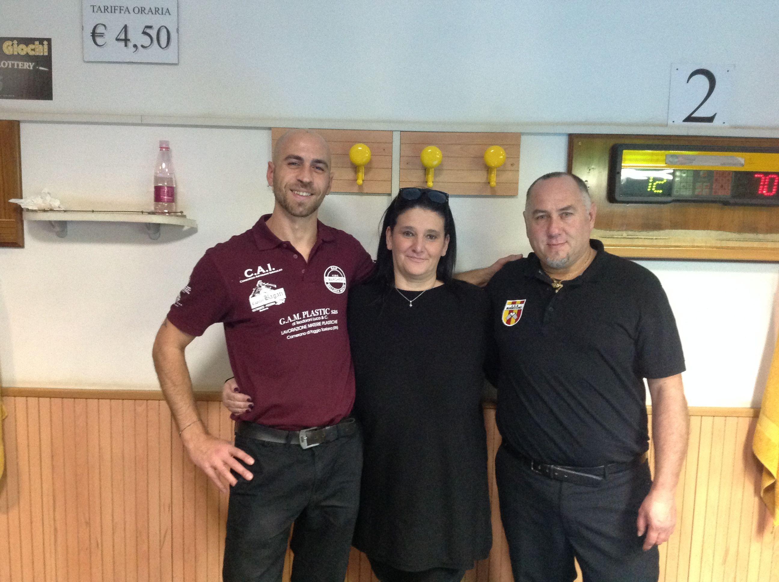 La coppia vincitrice con Benericetti Morena