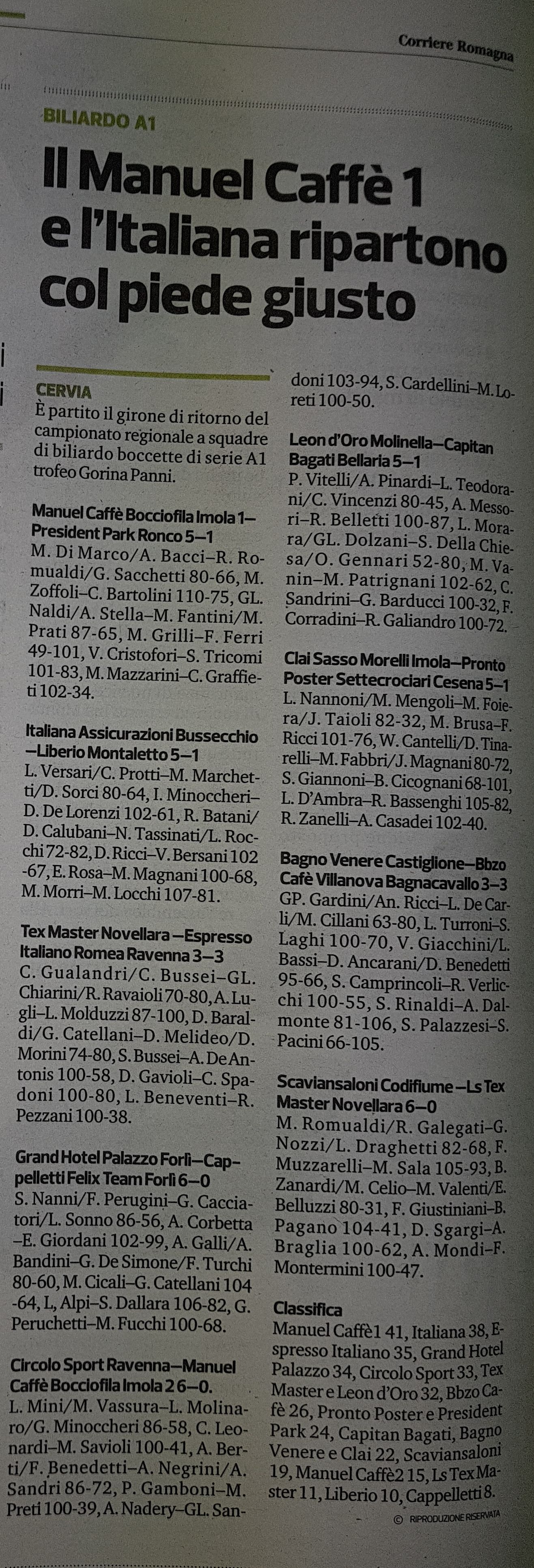 Corriere Romagna sport