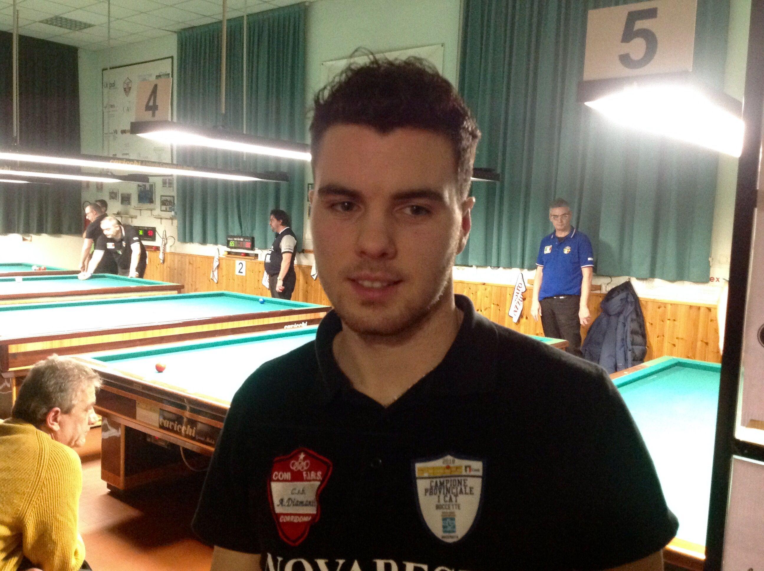 Il finalista Rinaldi Simone