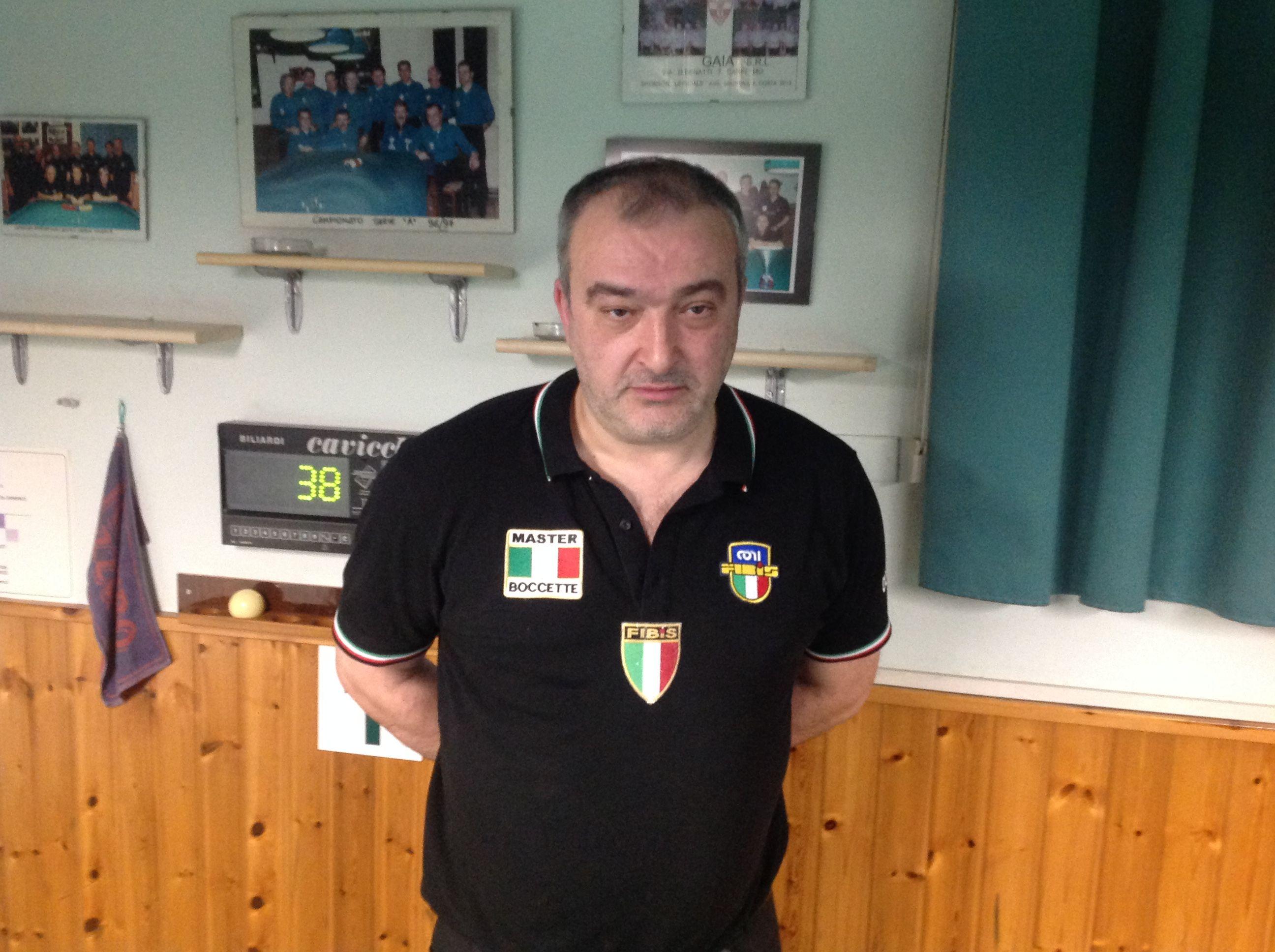 Il finalista Cicali Massimo