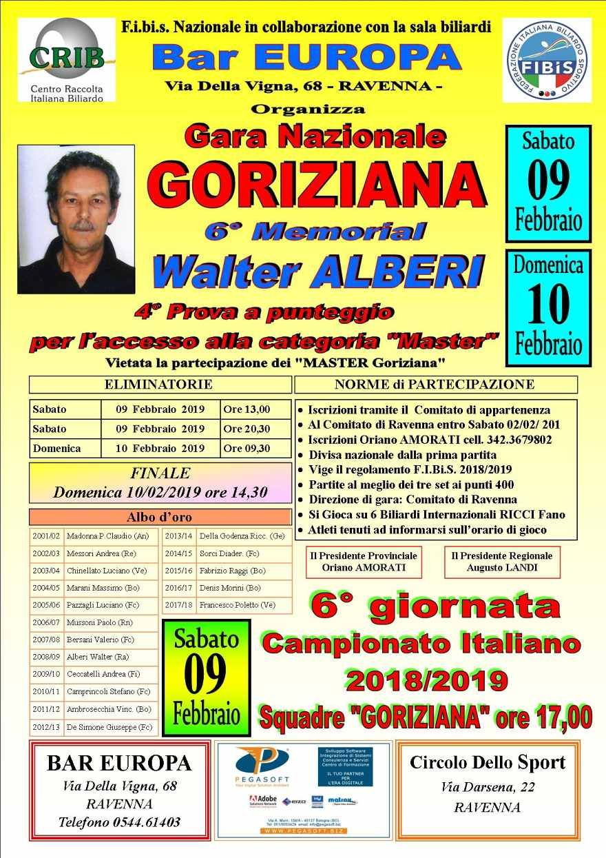 6^ Memorial Waler Alberi - 4^ Prova di Selezione Master (senza Master)