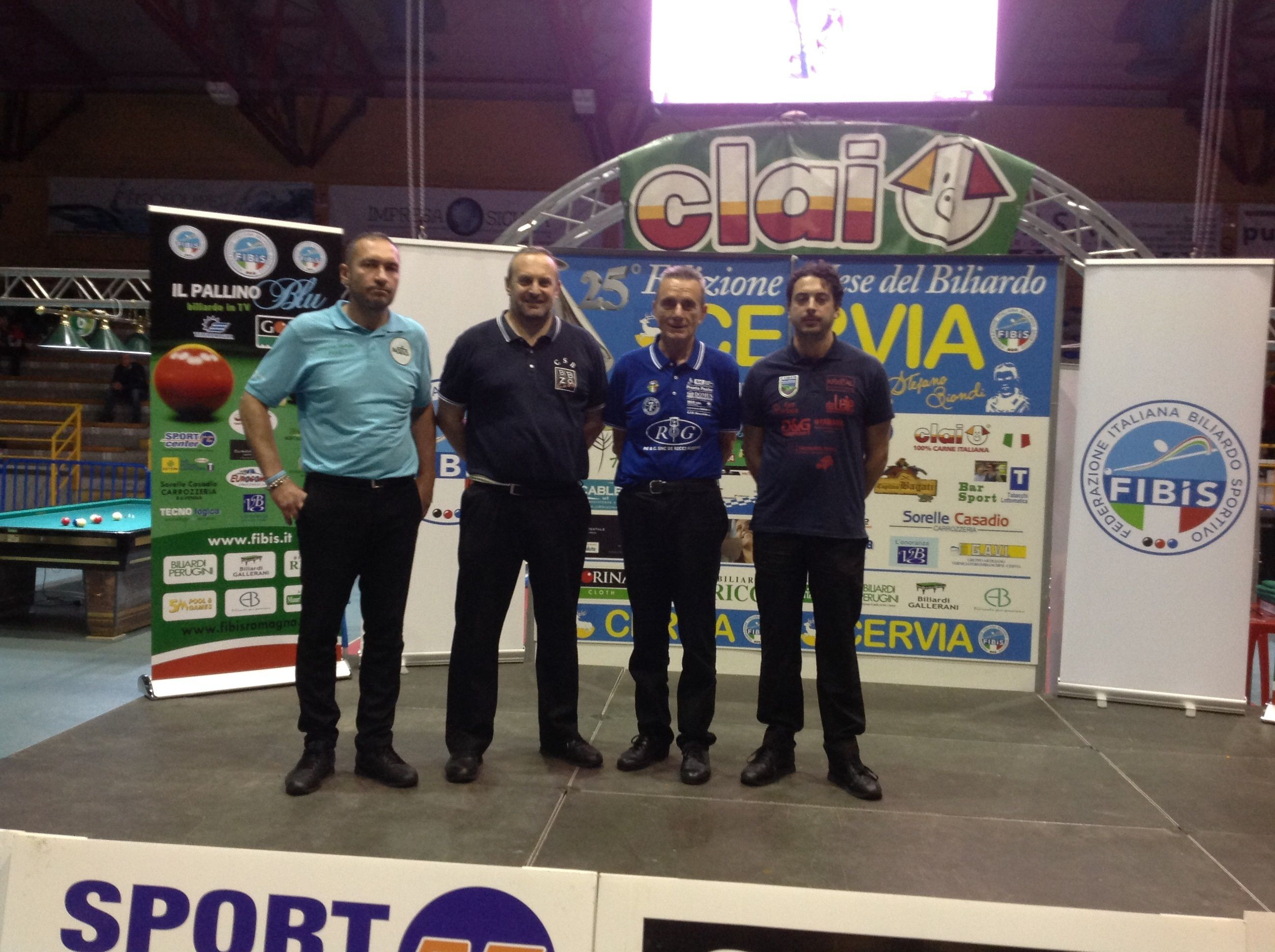 Solo i quattro finalisti italiani di 1° Categoria, Filippo Perugini, Devis Ancarani, Brunaldo Cicognani e Alberto Andruccioli