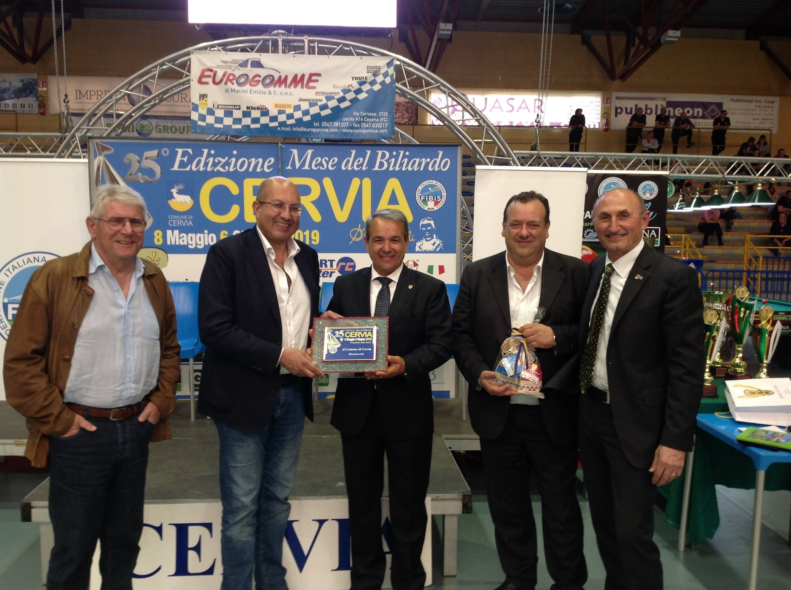 Augusto Landi , Andrea Mancino, Gianni Grandu(Ass. Sport Cervia), Pavio Migliozzi e Loris De Cesari
