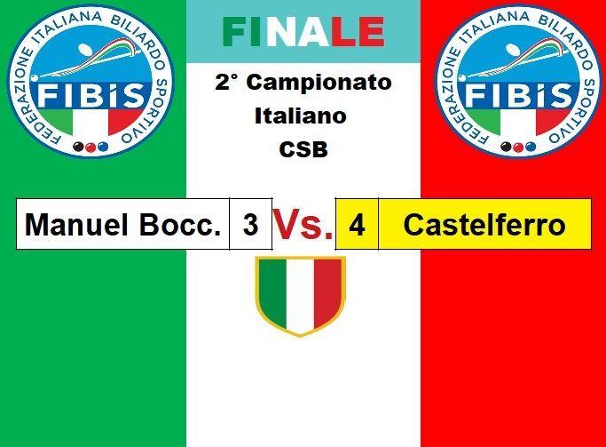 Finale 1° -  2 ° Posto
