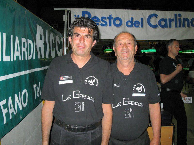Urbini Romano e Alessandri Alessandro miglior cioppia serie B girone D- CSB  Aurora