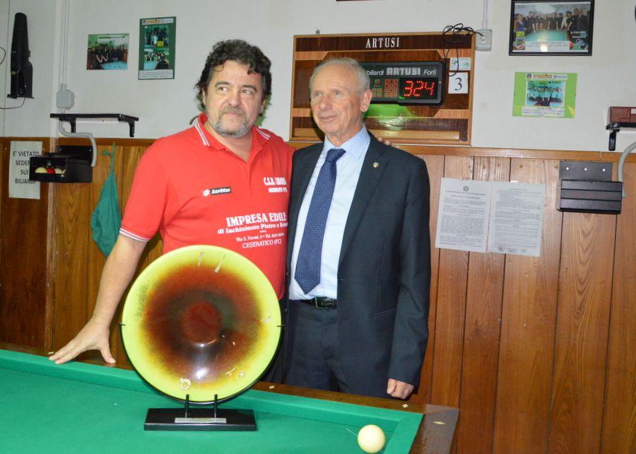 Il Campione Marco Merloni con il Presidente FC Naldi Luciano