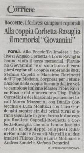 Corriere 8 gennaio