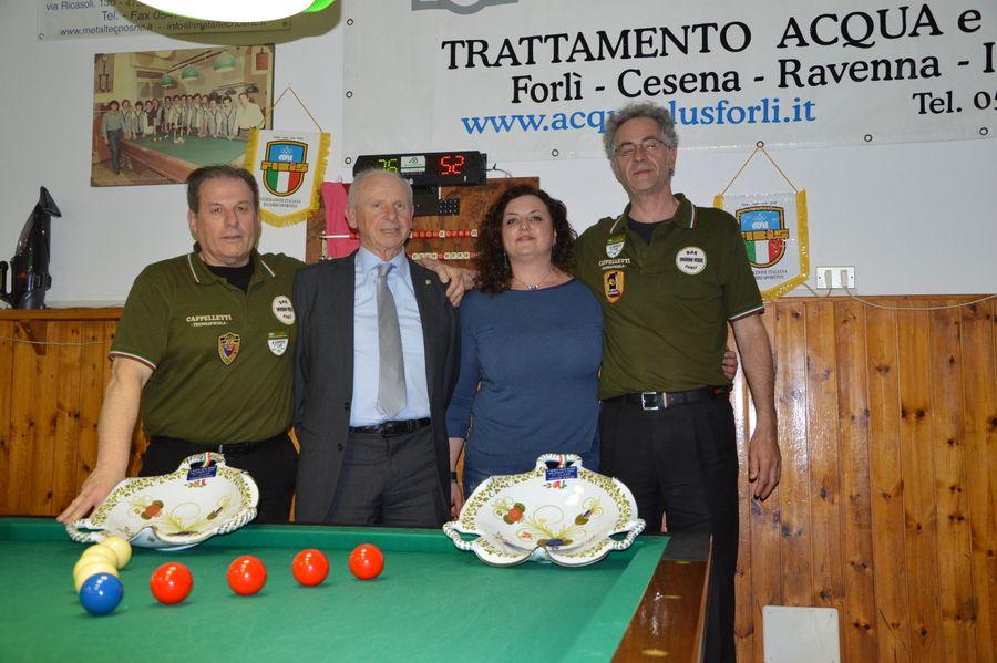 I vincitori Corbetta e Ravaglia con Naldi e Daniela