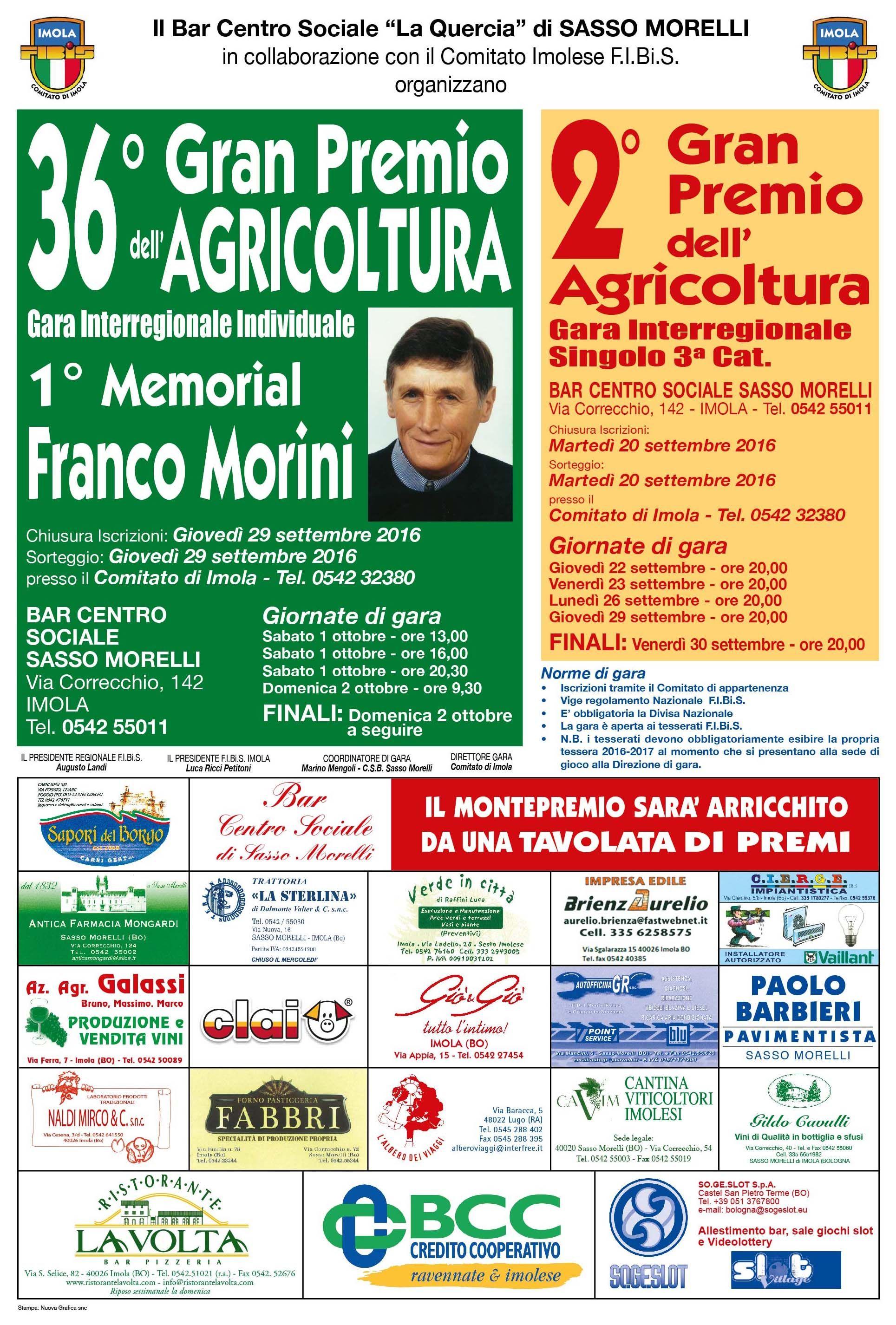 36° Gran Premio Agricoltura (Gara interregionale Individuale)