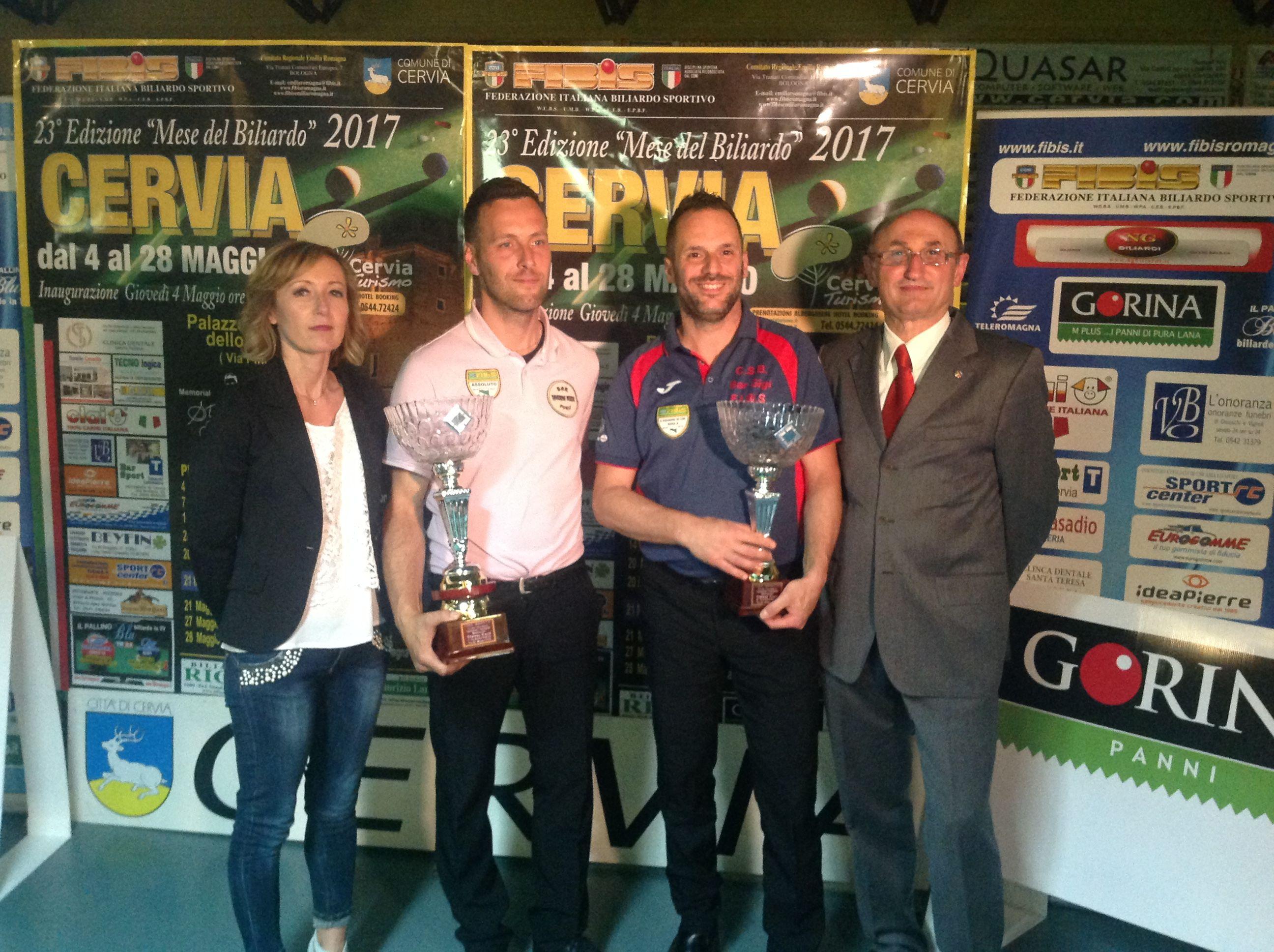 Galli Alex e Di Biagio Mauro con il Consigliere Federale Loris De Cesari e Stefania Ceccarelli