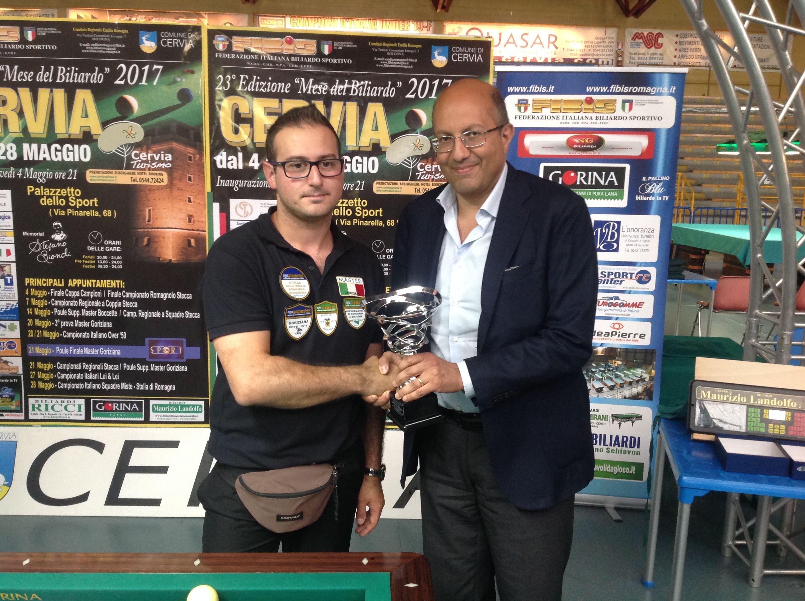 2° Classificato Camprincoli Stefano con il Presidente Nazionale Andrea Mancino
