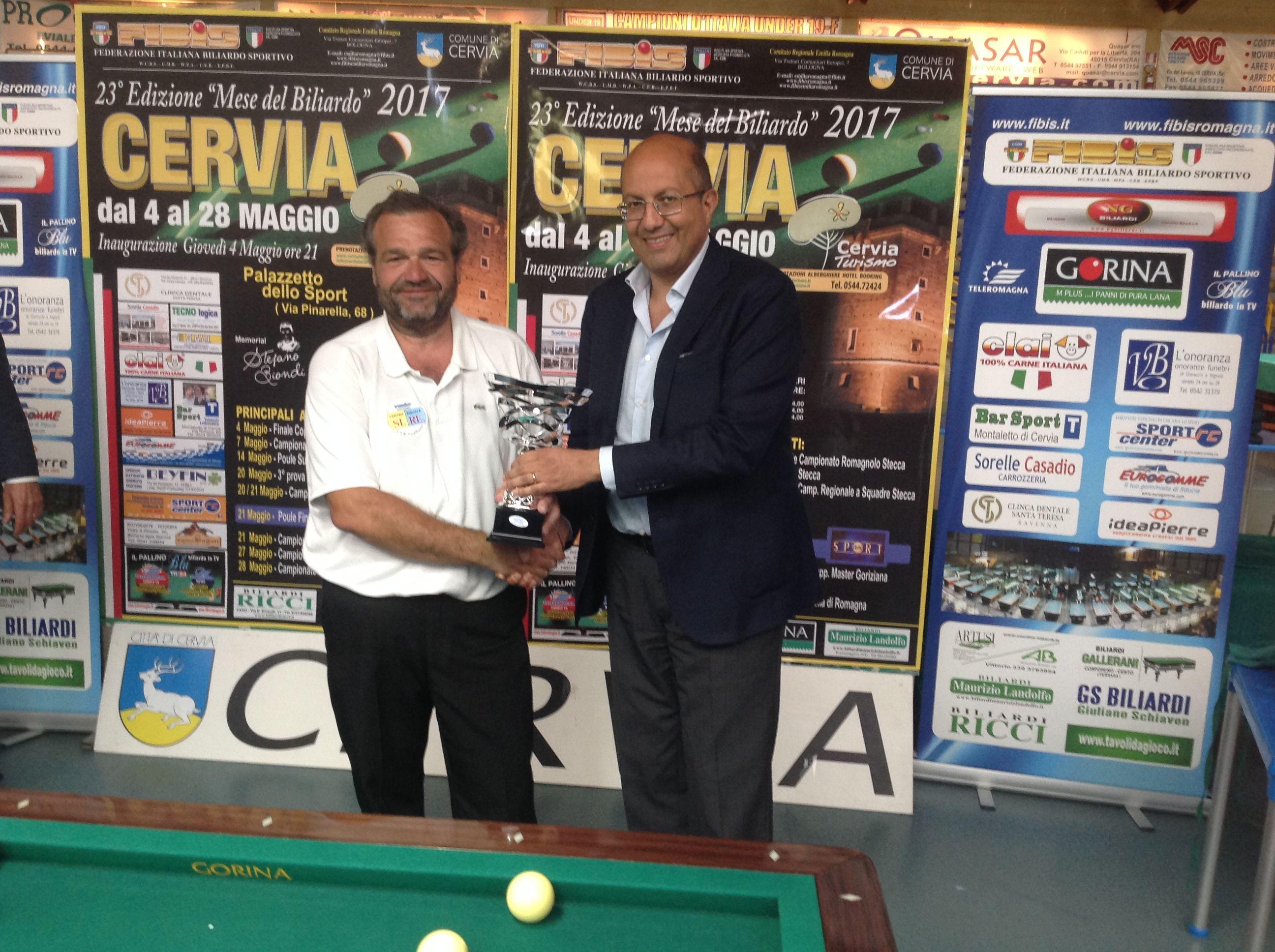 Il vincitore Ansaloni Davide con il Presidente Nazionale Andrea Mancino