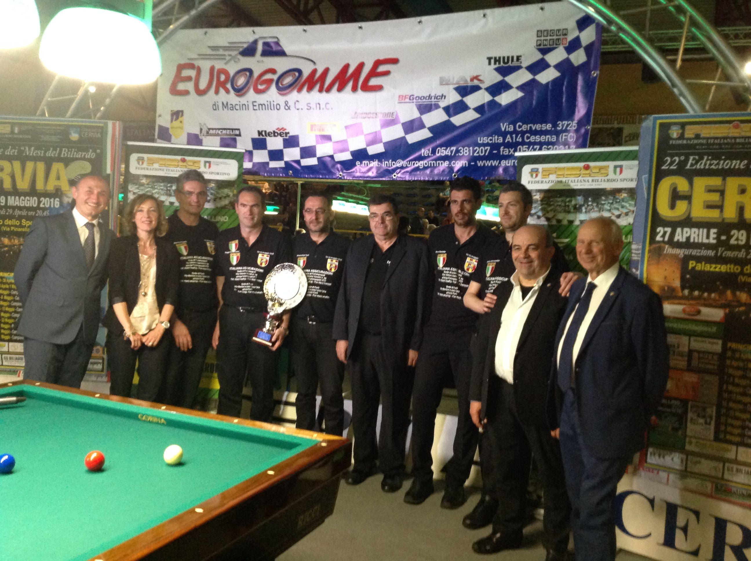 I campioni italiani a squadre 2016