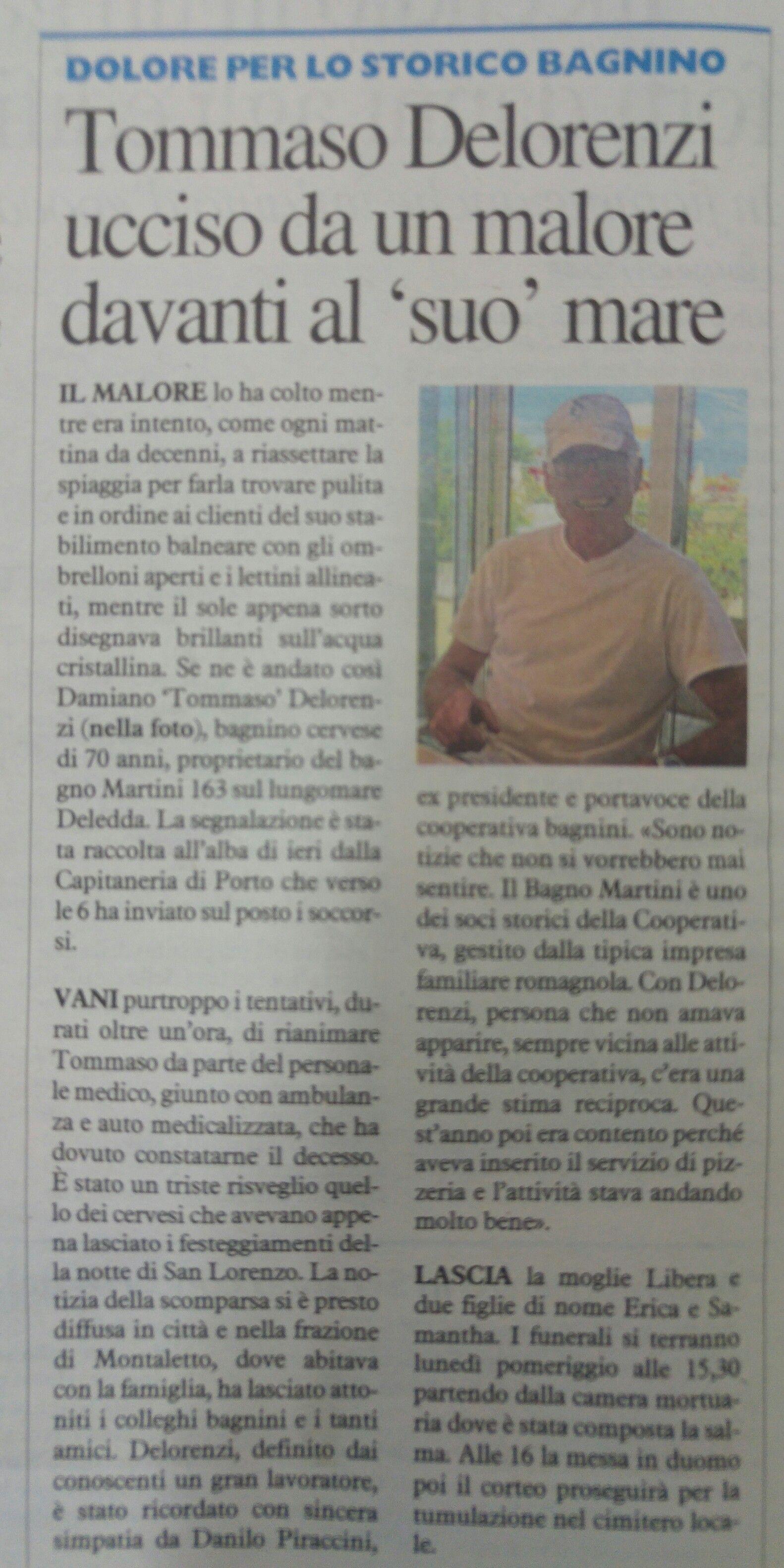 Articolo Carlino 11 agosto 2017
