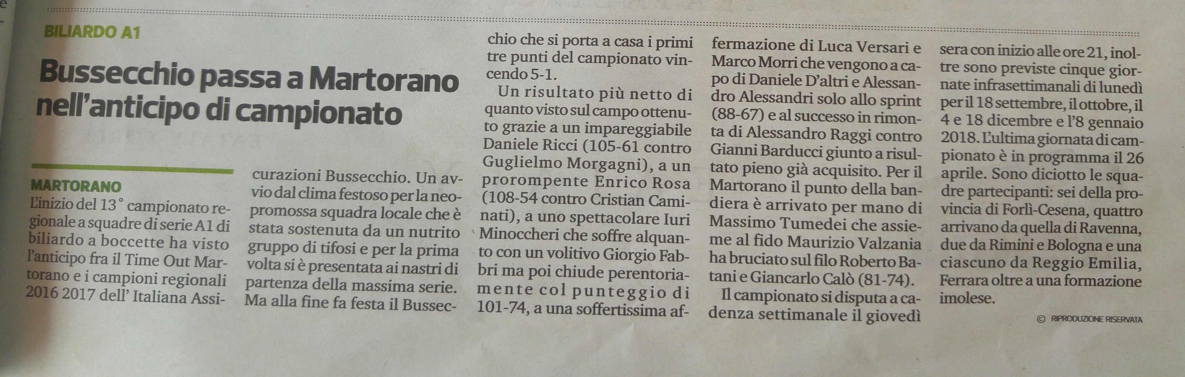corriere 15 settembre 2017