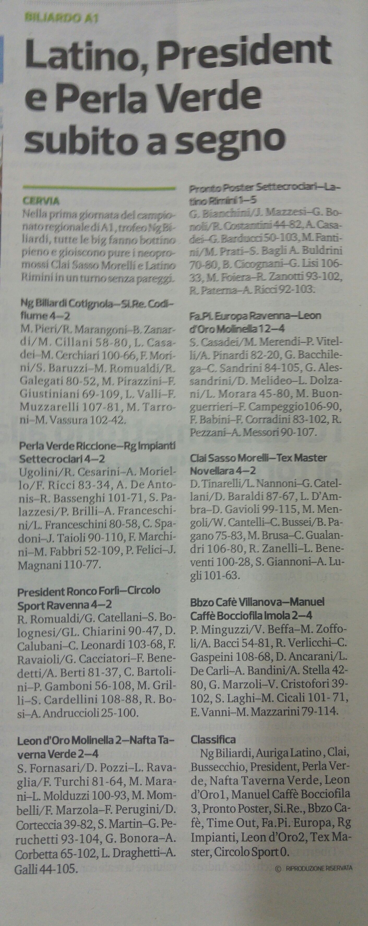 corriere 16 settembre