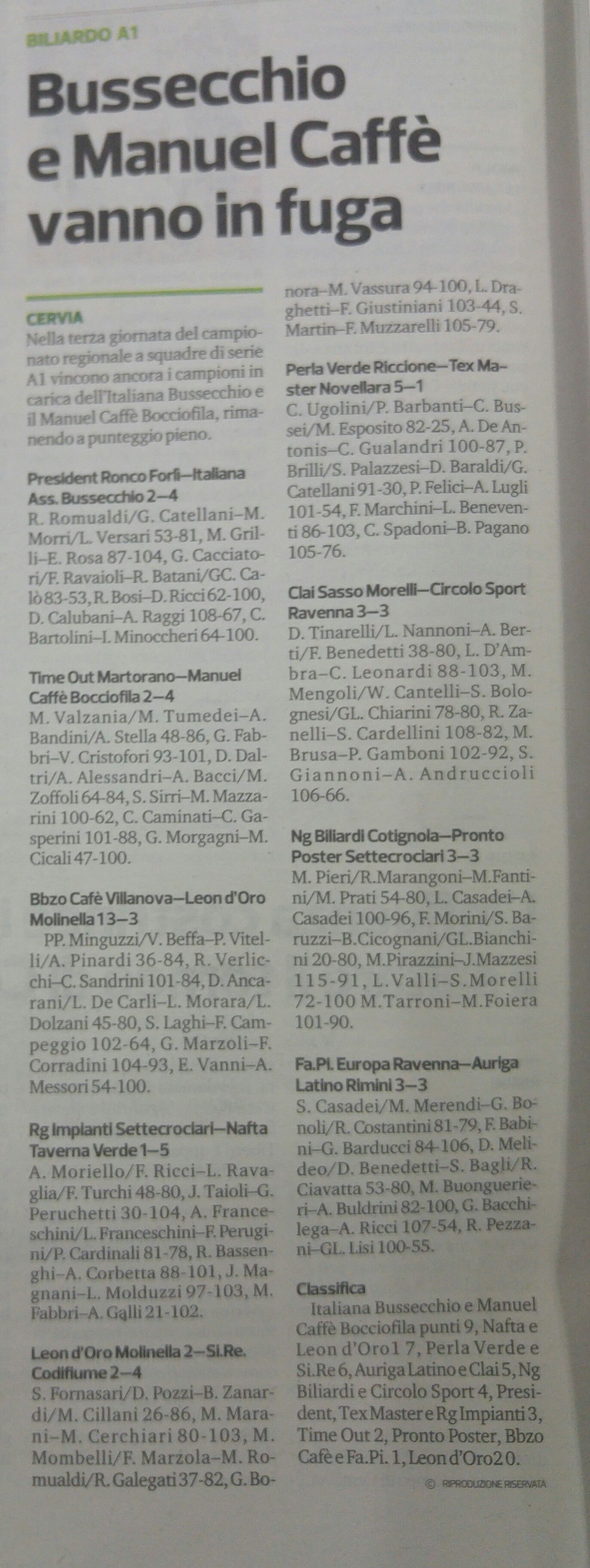 Corriere romagna 23 settembre