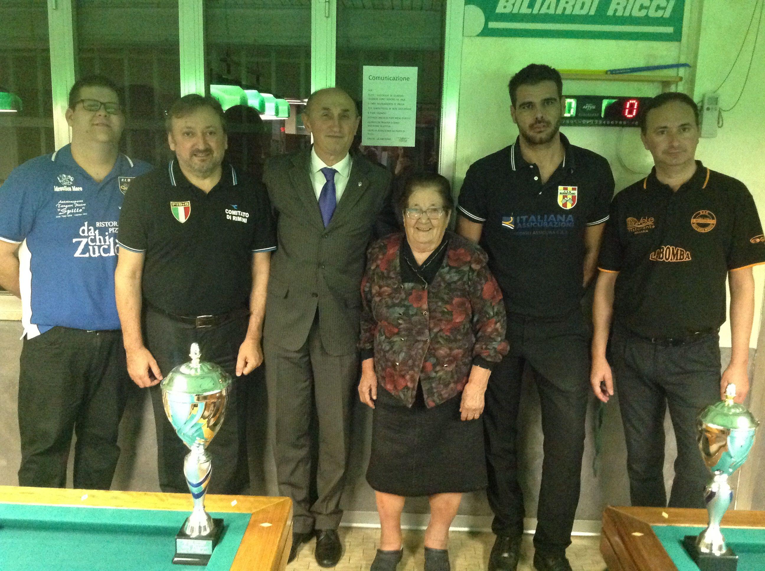 I finalisti con la Sig. Sanzani e il Consigliere Federale Loris De Cesari