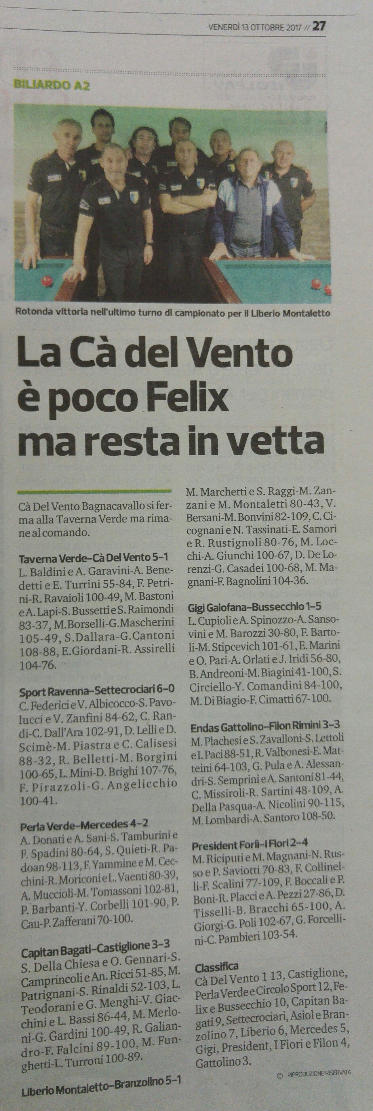 Corriere romagna 13 ottobre 2017