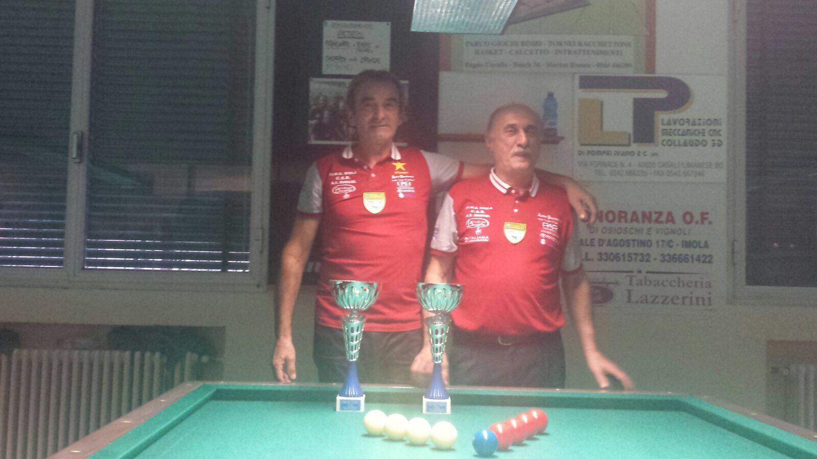 1^ Class. Bartolini Bruno e Loreti Lino CSB Caffè della Bocciofila Imola