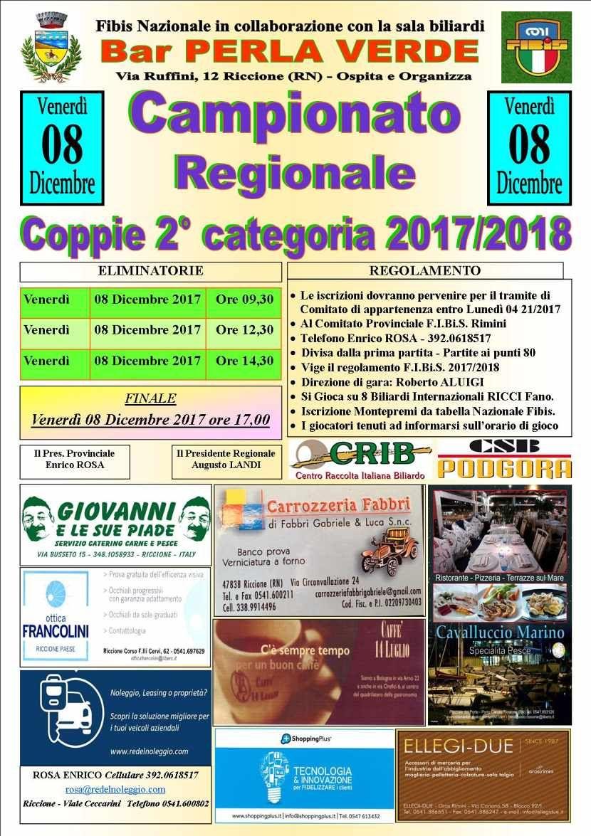 Campionato Regionale Coppie 2a Cat.