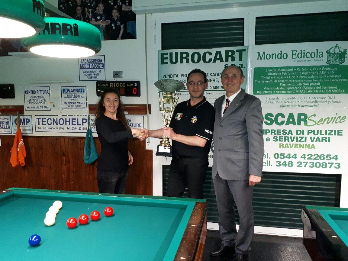Barbara (BBZO) e L.De Cesari premiano Iuri Minoccheri 1° classificato