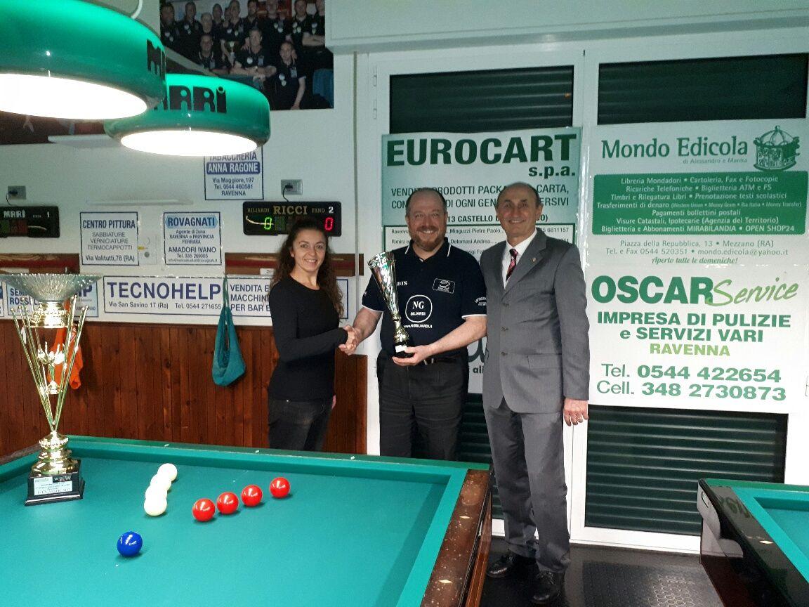 Barbara (BBZO) e L. De Cesari premiano G.Paolo Gardini 2° classificato