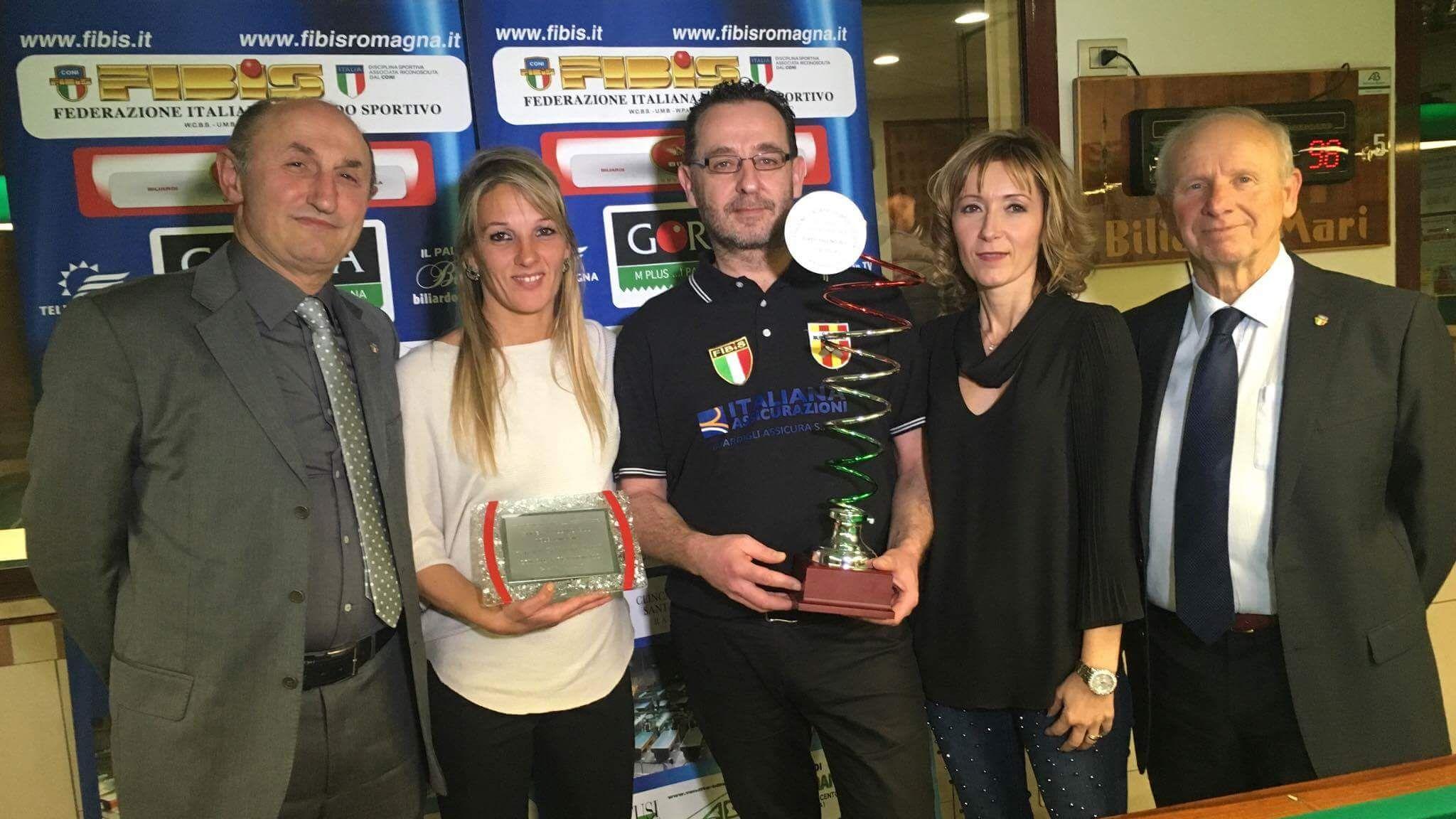 Loris De Cesari, Sara Samori'(Assessore Sport Forlì), Iuri Minoccheri, Stefania Ceccarelli, Luciano Naldi (Pres. Fibis Forlì-Cesena)
