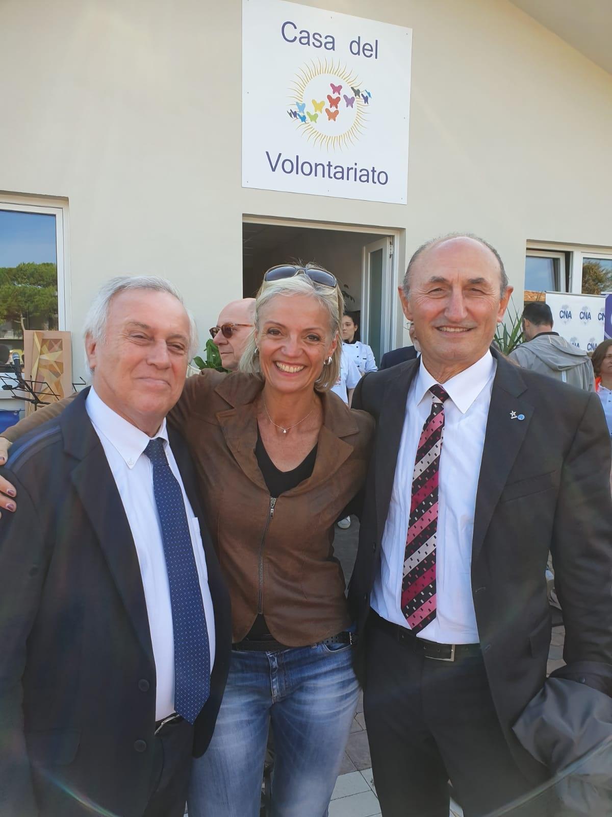 Vice Sindaco Gabriele Armuzzi, Ass.Sport Michela Brunelli e Loris De Cesari