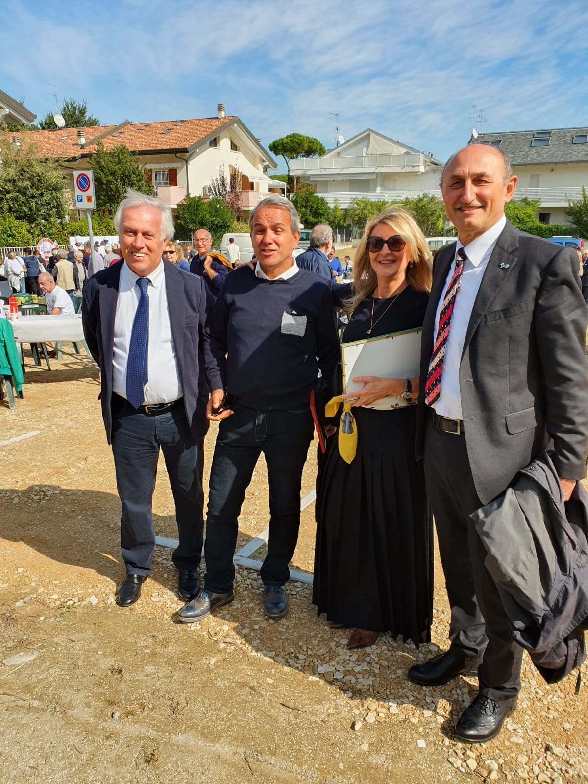 Vice Sindaco Gabriele Armuzzi, Pres. Consiglio Comunale Gianni Grandu, ex Assessore Rossella Fabbri e Loris De Cesari